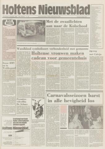 Holtens Nieuwsblad 1986-11-06