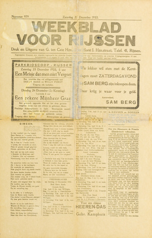 Weekblad voor Rijssen 1933-12-23