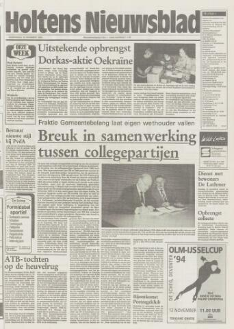 Holtens Nieuwsblad 1994-11-10
