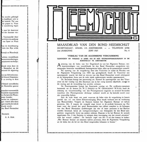 Heemschut - Tijdschrift 1924-2018 1925-06-06