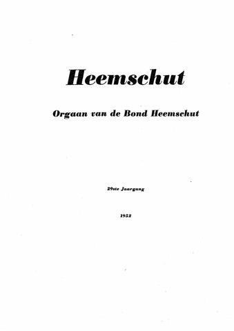 Index Heemschut 1947-2002 1952