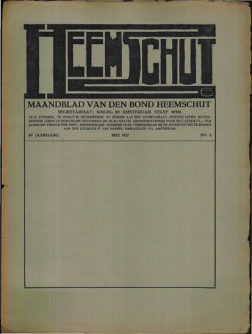 Heemschut - Tijdschrift 1924-2018 1927-05-01