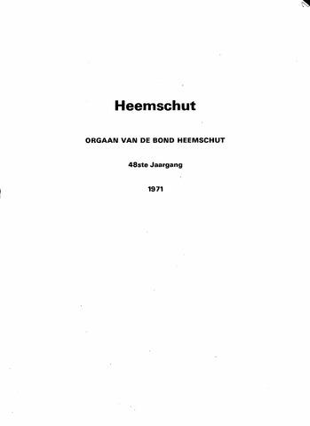 Index Heemschut 1947-2002 1971
