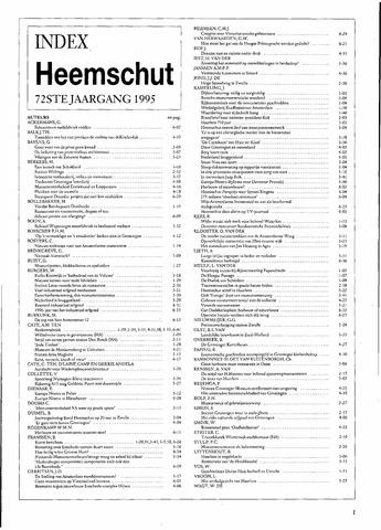 Index Heemschut 1947-2002 1995