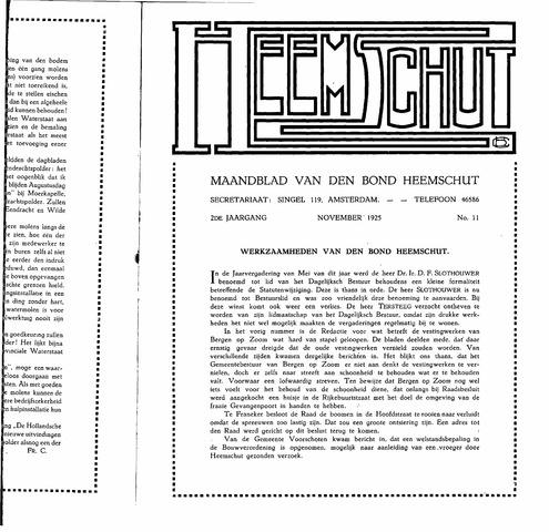 Heemschut - Tijdschrift 1924-2018 1925-11-11