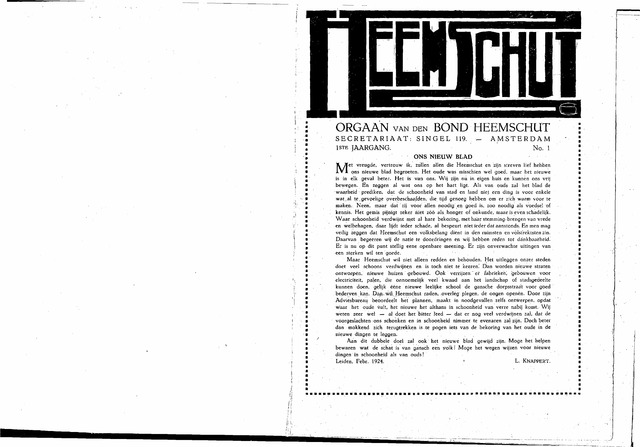 Heemschut - Tijdschrift 1924-2018 1924