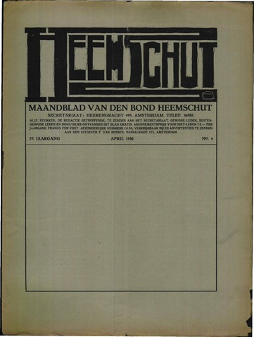 Heemschut - Tijdschrift 1924-2018 1930-04-01