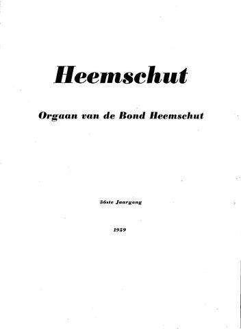 Index Heemschut 1947-2002 1959