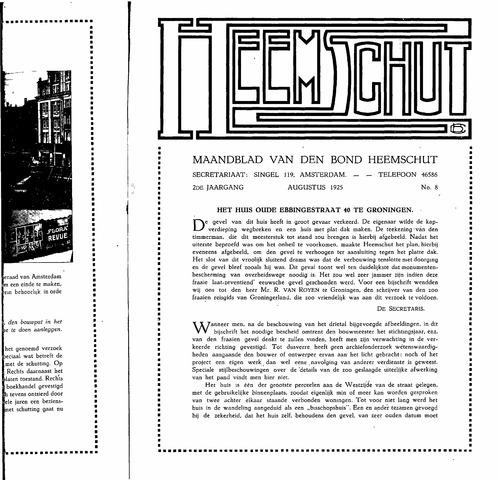 Heemschut - Tijdschrift 1924-2018 1925-08-08