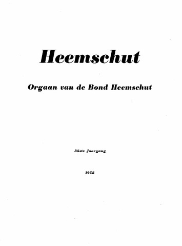 Index Heemschut 1947-2002 1958-12-01