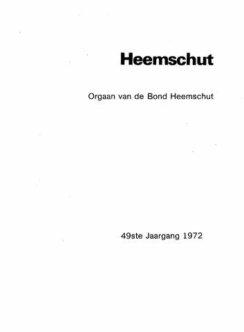 Index Heemschut 1947-2002 1972