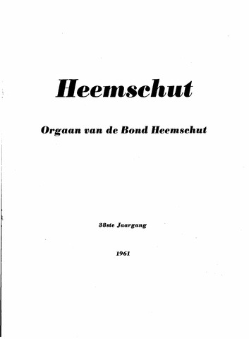 Index Heemschut 1947-2002 1961-12-01