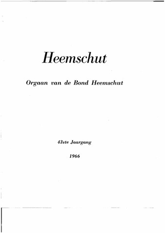 Index Heemschut 1947-2002 1966