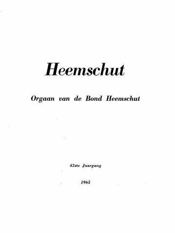 Index Heemschut 1947-2002 1965-12-01