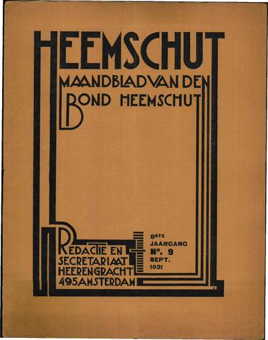 Heemschut - Tijdschrift 1924-2018 1931-09-01