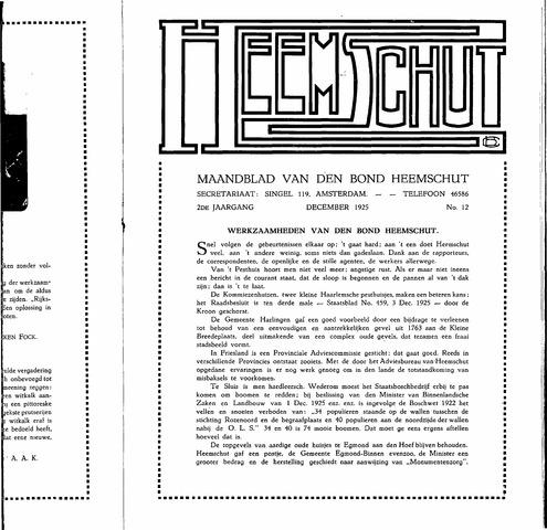 Heemschut - Tijdschrift 1924-2018 1925-12-12