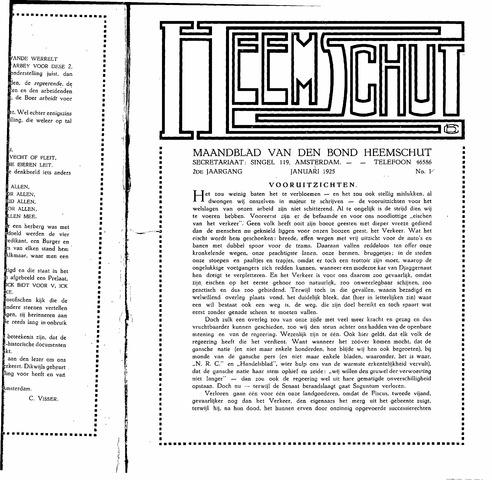 Heemschut - Tijdschrift 1924-2018 1925-01-01