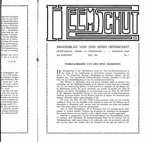 Heemschut - Tijdschrift 1924-2018 1925-07-07