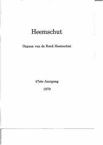 Index Heemschut 1947-2002 1970