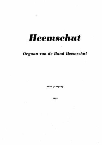 Index Heemschut 1947-2002 1953