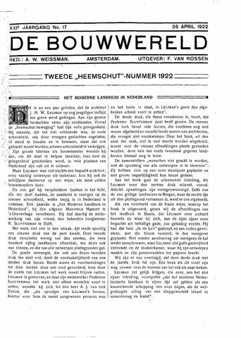 Bouwwereld 1918-1923 1922-04-26