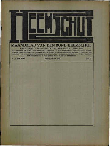 Heemschut - Tijdschrift 1924-2018 1930-11-01