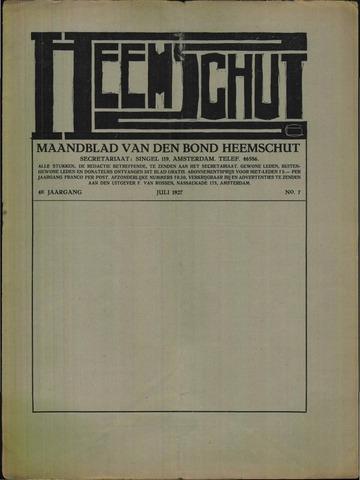 Heemschut - Tijdschrift 1924-2018 1927-07-01