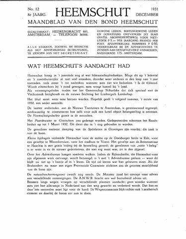 Heemschut - Tijdschrift 1924-2018 1931-12-01