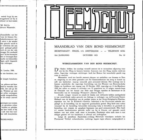 Heemschut - Tijdschrift 1924-2018 1925-10-10