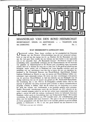 Heemschut - Tijdschrift 1924-2018 1927-11-01