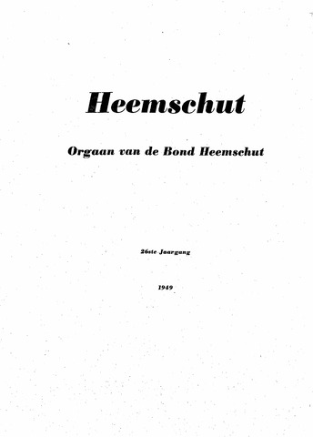 Index Heemschut 1947-2002 1949-01-01