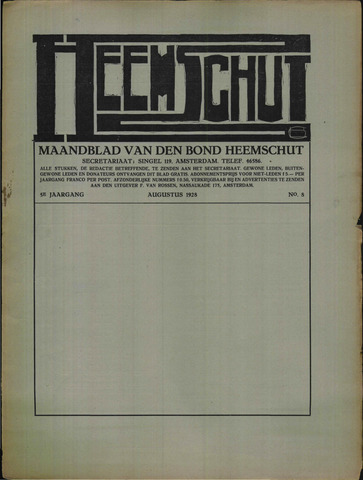 Heemschut - Tijdschrift 1924-2018 1928-09-01