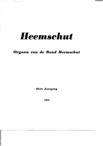Index Heemschut 1947-2002 1963-12-01