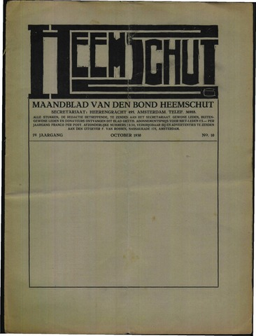 Heemschut - Tijdschrift 1924-2018 1930-10-01