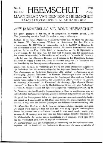 Heemschut - Tijdschrift 1924-2018 1936-08-01