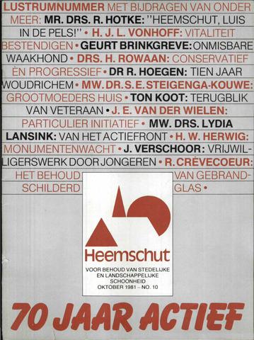 Heemschut - Tijdschrift 1924-2018 1981-10-01