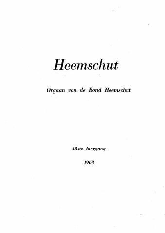 Index Heemschut 1947-2002 1968