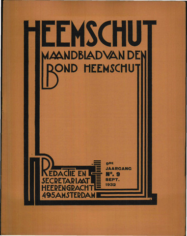 Heemschut - Tijdschrift 1924-2018 1932-09-01