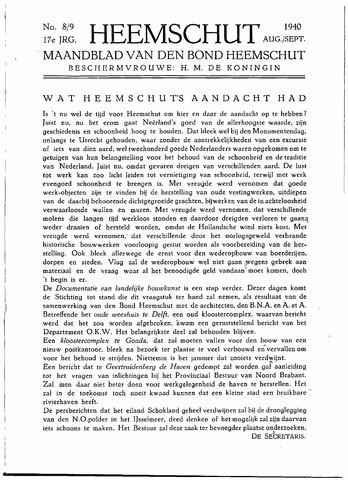 Heemschut - Tijdschrift 1924-2018 1940-08-01