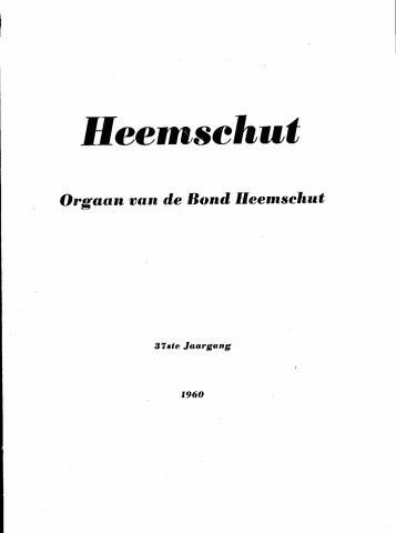 Index Heemschut 1947-2002 1960