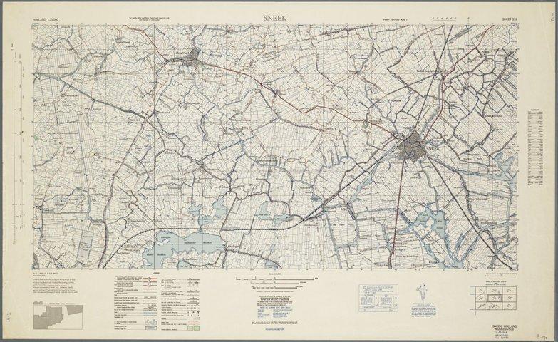 Kaart Van Zuidwest Friesland Gedrukt In Amerika Tijdens De Tweede