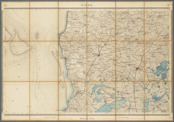Topografische Kaart Van Het Zuidwest Friesland