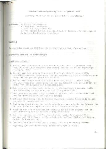 Raadsnotulen 1984