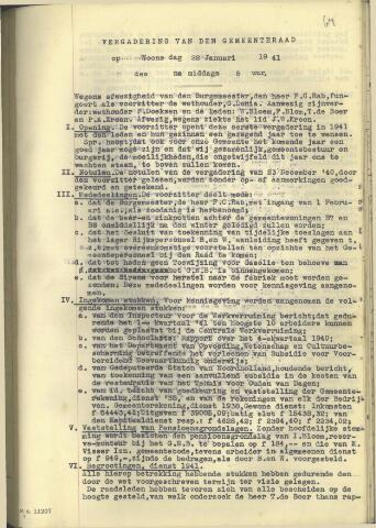 Raadsnotulen 1941