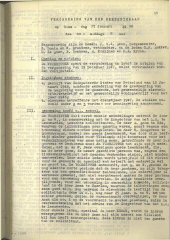Raadsnotulen 1948