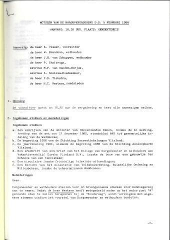 Raadsnotulen 1986