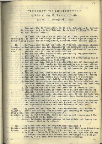 Raadsnotulen 1940