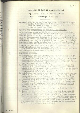 Raadsnotulen 1953