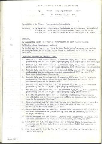 Raadsnotulen 1977
