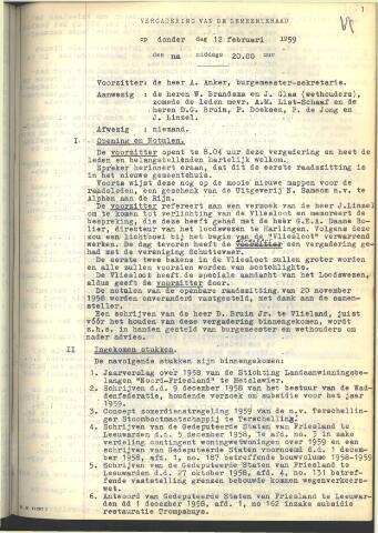 Raadsnotulen 1959